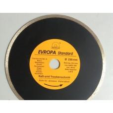 """Диск алмазный """"Evropa"""" 230*25.4 мм по плитке черный"""