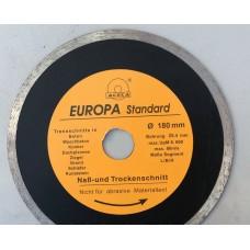 """Диск алмазный """"Evropa"""" 180*1.8*25.4 мм по плитке"""