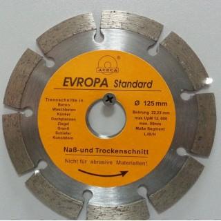 """Диск алмазный """"Evropa"""" 125*22.2 мм сегмент"""