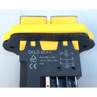 Кнопка бетономешалки (магнитный пускатель) 5 контактов желтая